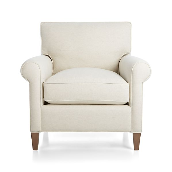 Montclair Chair Natural Crate And Barrel