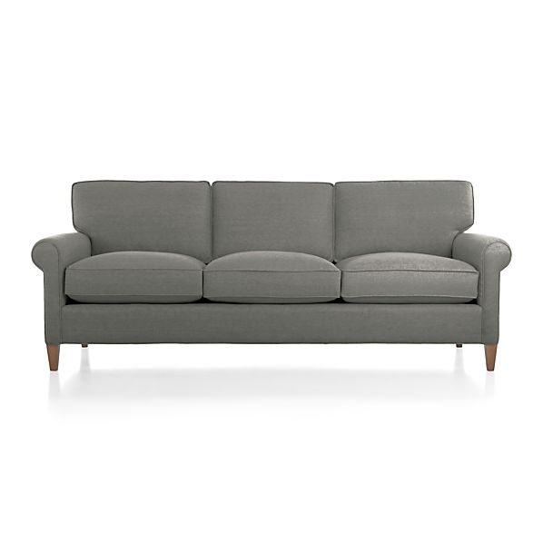 Montclair 3 seat sofa crate and barrel for Crate and barrel sofa