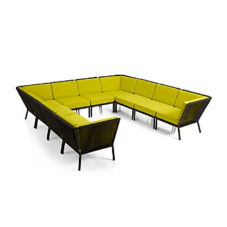 Morocco 10-Piece Sectional with Sunbrella ® Cushions