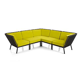 Morocco 5-Piece Sectional with Sunbrella ® Cushions