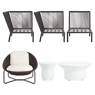 Morocco 6-Piece Lounge Set with Acara Tables
