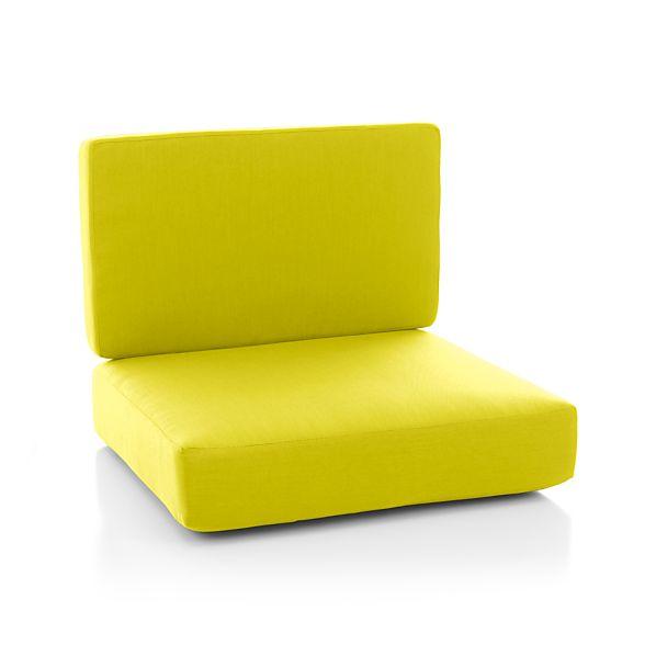 Morocco Sunbrella Armless Lounge Chair Cushion Sulfur
