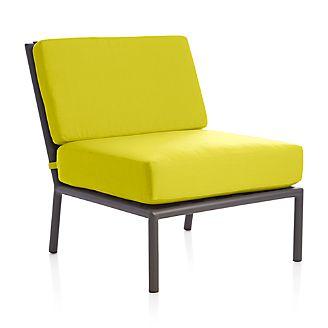Morocco Sectional Armless Chair with Sunbrella ® Cushion