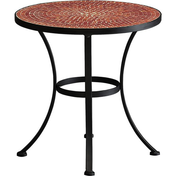 Mosaic Red Side Table in Lounge Furniture | Crate and Barrel