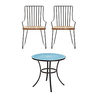 Mosaic and Berkshire 3-Piece Dining Set