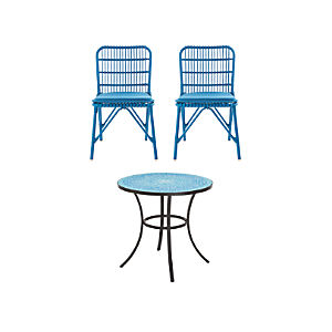 Mosaic and Kruger 3-Piece Blue Dining Set