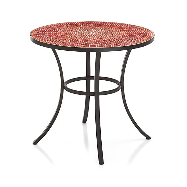 Mosaic Red Bistro Table In Dining Furniture