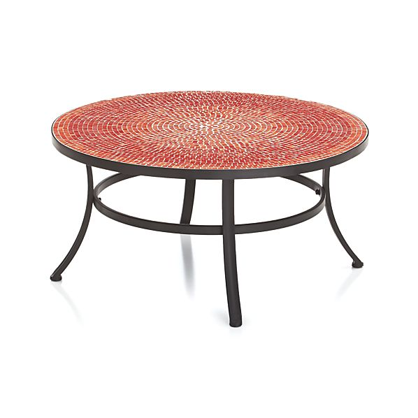 Mosaic Red Coffee Table In Lounge Furniture Crate And Barrel
