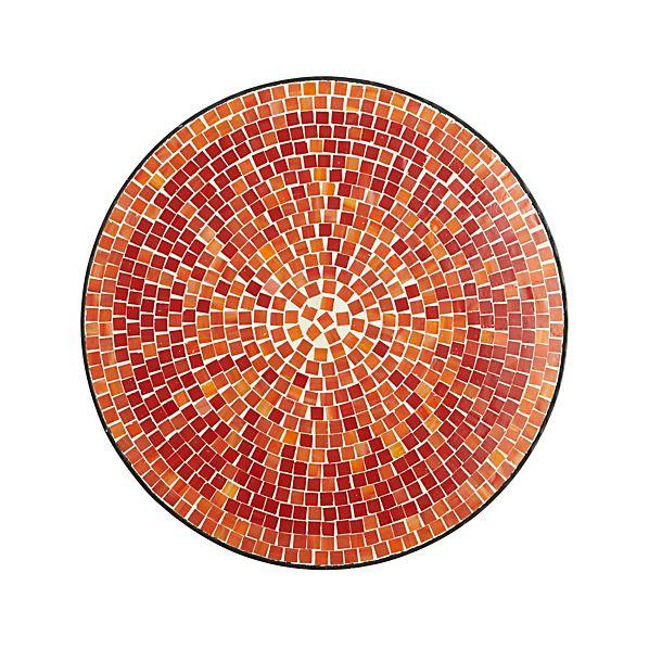 MosaicRedRndSdTbl18inTopS15