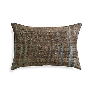 "Moya 24""x16"" Pillow with Feather-Down Insert."