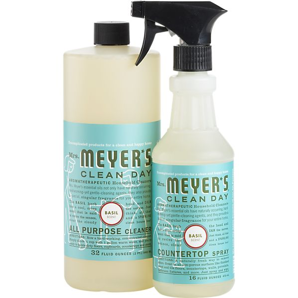 2-Piece Mrs. Meyer's Clean Day® Basil All Purpose Cleaner and Countertop Spray Set
