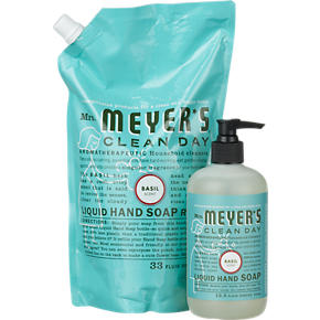 Mrs. Meyers Clean Day® Basil Hand Soap and Refill