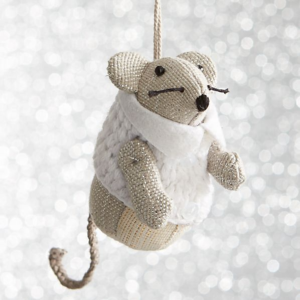 Mouse with White Vest Ornament