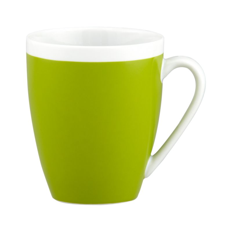 A pop of color for everyday dining. Clean, coupe shape is light green with a wide band of white around the rim.<br /><br /><NEWTAG/><ul><li>Porcelain</li><li>Dishwasher-, microwave- and oven-safe to 350 degrees</li><li>Made in China</li></ul>