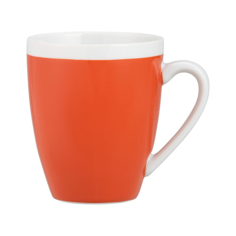 A pop of color for everyday dining. Clean, coupe shape is orange with a wide band of white around the rim.<br /><br /><NEWTAG/><ul><li>Porcelain</li><li>Dishwasher-, microwave- and oven-safe to 350 degrees</li><li>Made in China</li></ul>