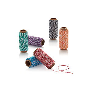 Set of 6 Multicolor Baking Twine