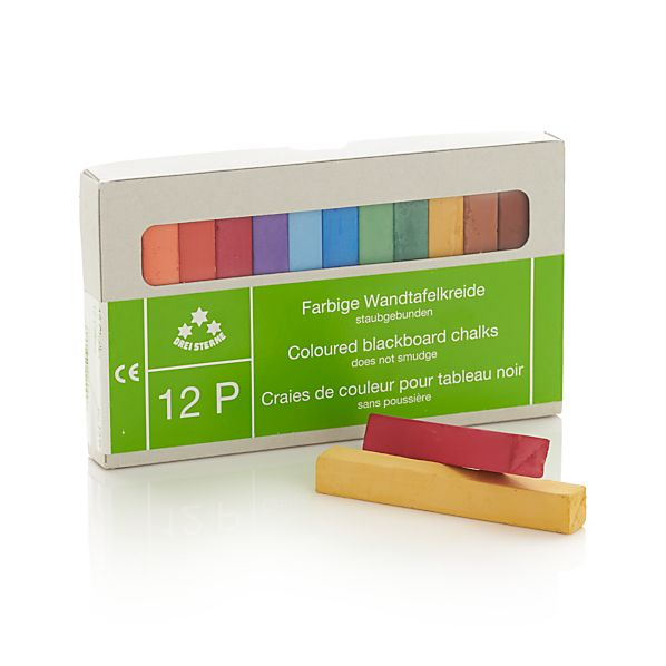 Set of 12 Multicolored Chalks