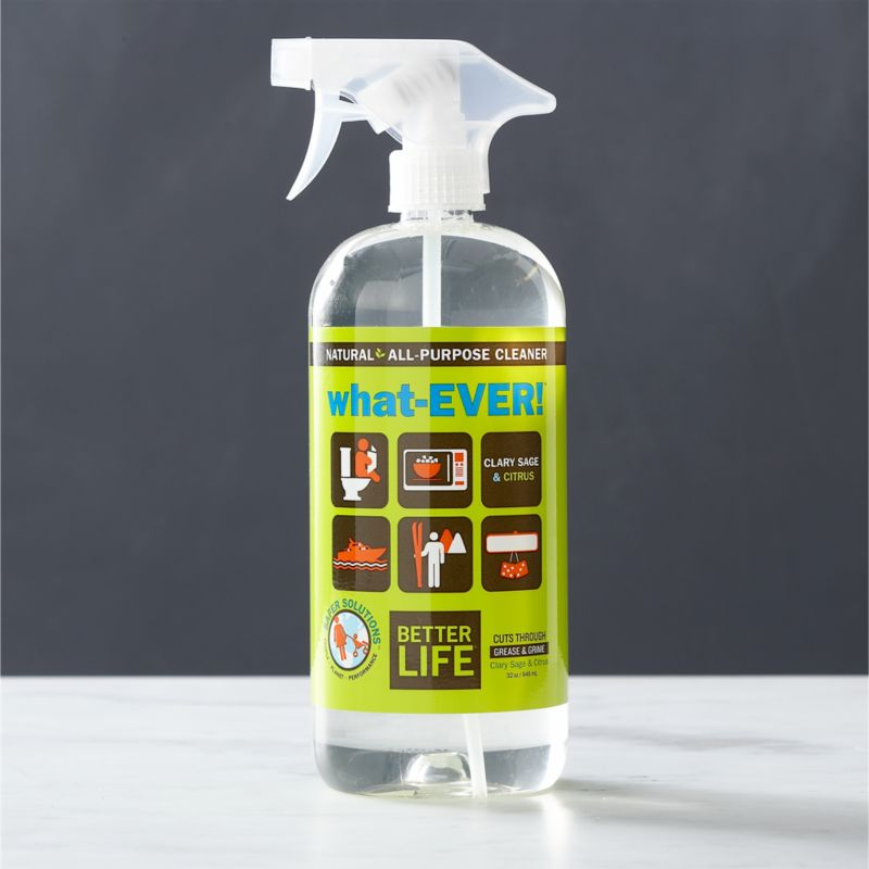 Aspire to a healthier clean for your home. This eco-friendly, all-purpose cleaner is better for people, pets and the planet. Carefully formulated in the USA with natural ingredients, this plant-based solution effectively handles your toughest cleanups and is safe to use on any surface. It's non-toxic, solvent-free (no ammonia, alcohol, ethers) and contains no VOCs. A smart choice for sensitive skin, this cleaner is free of perfumes and dyes and is pH neutral with a refreshing citrus scent thanks to essential oils of clary sage and citrus.<br /><br />As parents of young children, lifelong friends Tim Barklage and Kevin Tibbs became concerned about toxic residues left behind by traditional cleaners. Tim challenged Kevin, an innovative chemist, to create a cleaning product that would set the standard for safety. In 2007, they founded Better Life™, a better line of products and a better life for all.<br /><br /><NEWTAG/><ul><li>Created by Better Life™</li><li>Eco-friendly, all-purpos