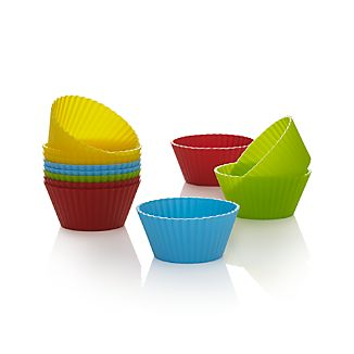 Multicolor Silicone Baking Cups Set of 12