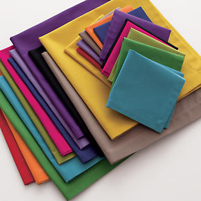 Set of Twelve Multicolored Cocktail Napkins