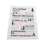 Multilingual Merry Christmas Dish Towel