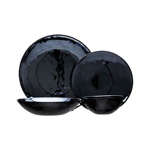 Murano Black Dinnerware