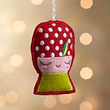 Mushroom Girl Red Ornament