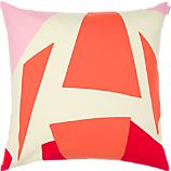 Marimekko Musta Virta Red 20&quot; Pillow