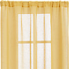 "Mustard Sheer 52""x84"" Curtain Panel."