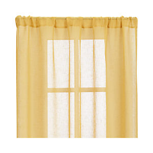 "Mustard Sheer 52""x84"" Curtain Panel"