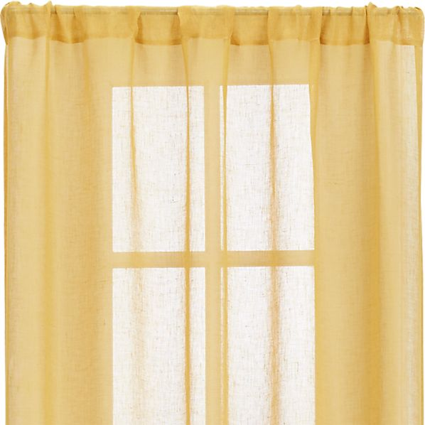 "Mustard Sheer 52""x96"" Curtain Panel"