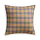 Mustard Plaid Pillow with Down-Alternative Insert.