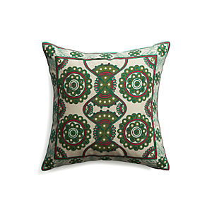 "Natale 18"" Pillow with Down-Alternative Insert"