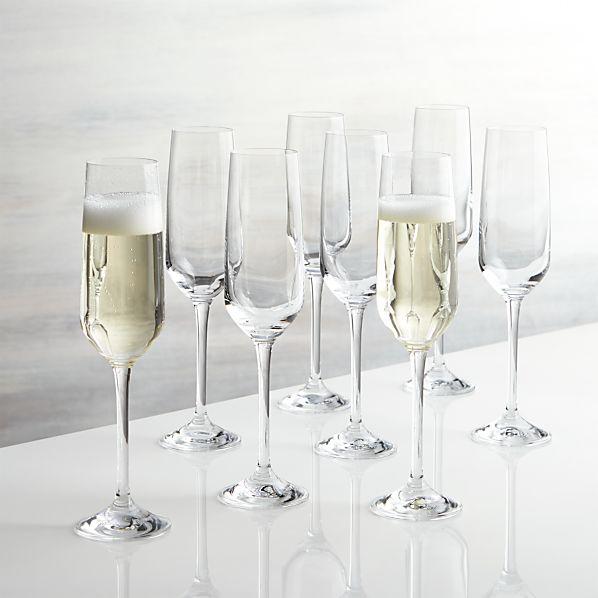 Set of 8 Nattie Champagne Glasses