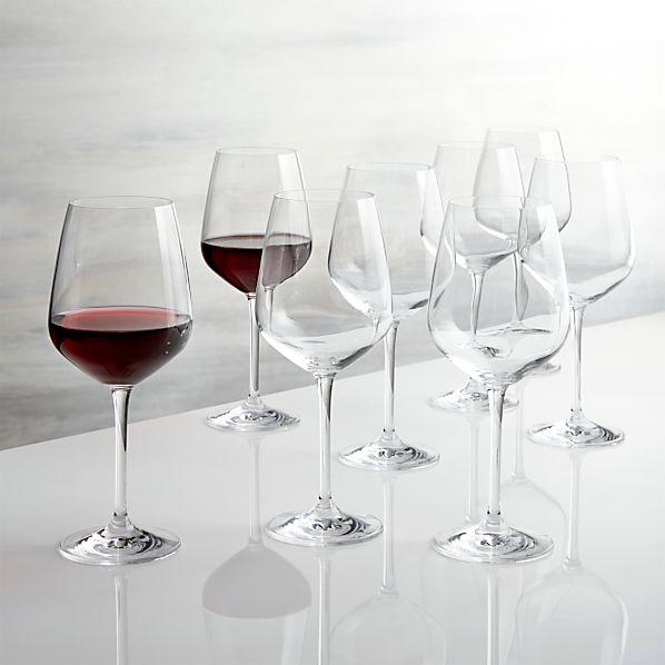 Nattie Red Wine Glasses Set of Eight
