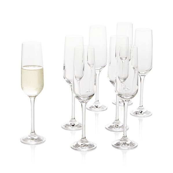 Set of 8 Nattie Champagne Glasses