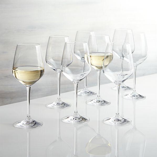Nattie White Wine Glasses Set of Eight