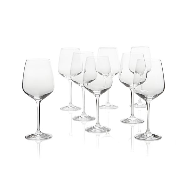 Nattie Red Wine Glasses Set of Eight