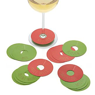 Set of 16 Naughty and Nice Wine Markers
