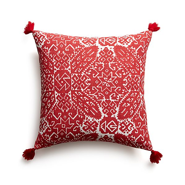 "Navidad 16"" Pillow with Down-Alternative Insert"