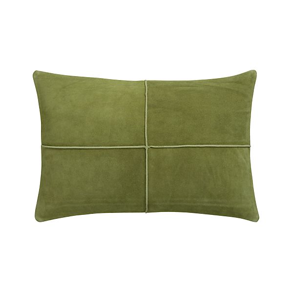 "Nesbit Green 18""x12"" Pillow with Down-Alternative Insert"