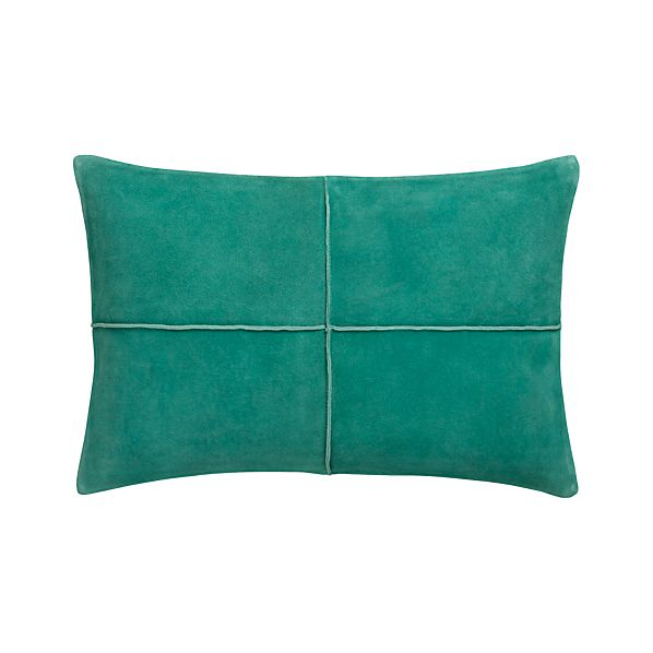"Nesbit Teal 18""x12"" Pillow with Down-Alternative Insert"
