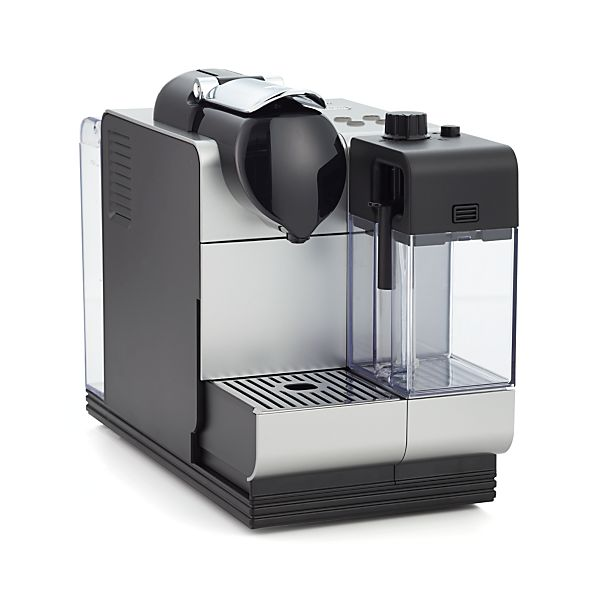 delonghi silver nespresso lattissima plus espresso maker crate and barrel. Black Bedroom Furniture Sets. Home Design Ideas