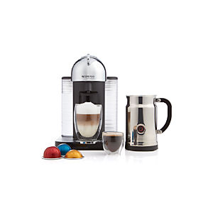 Nespresso® VertuoLine Chrome Coffee-Espresso Maker Bundle