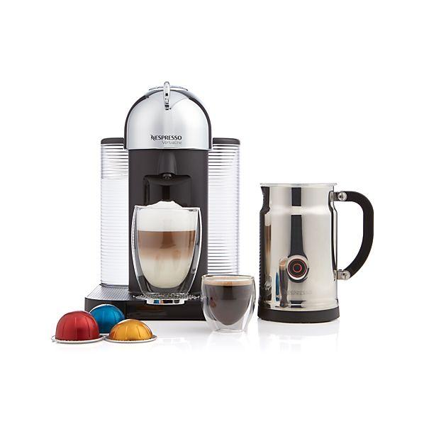 Nespresso 174 Vertuoline Chrome Coffee Espresso Maker Bundle