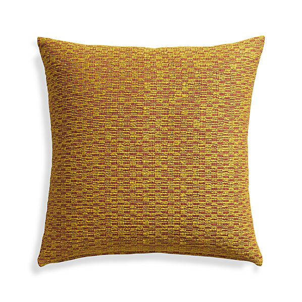 "Nettles Mustard 23"" Pillow"
