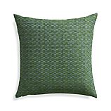 "Nettles Pesto 23"" Pillow with Feather Insert."
