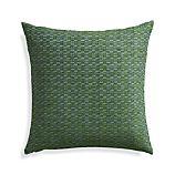 """Nettles Pesto 23"""" Pillow with Down-Alternative Insert."""