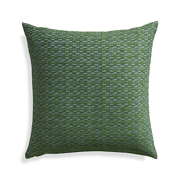 "Nettles Pesto 23"" Pillow with Down-Alternative Insert."