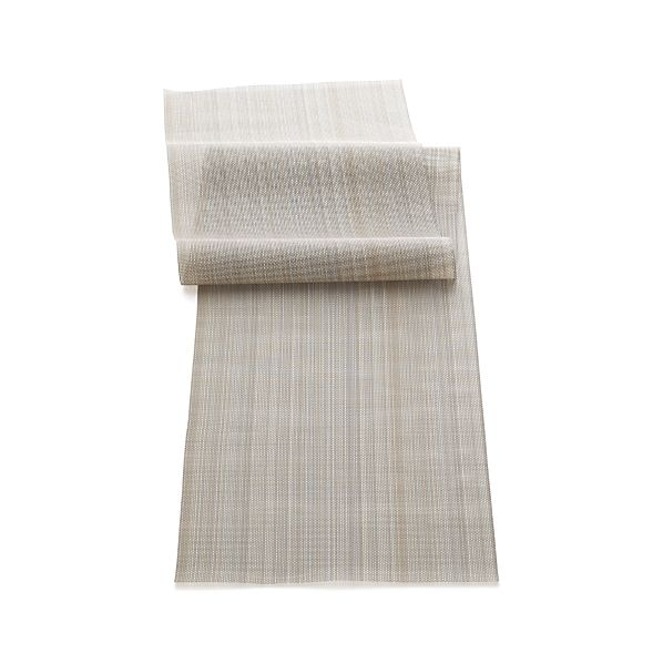 Chilewich ® Neutral Stripe Vinyl Table Runner